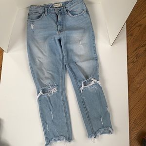 High Rise Abercrombie and Fitch jeans
